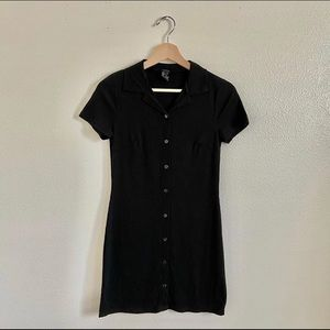 Forever 21 Black Button Down Dress